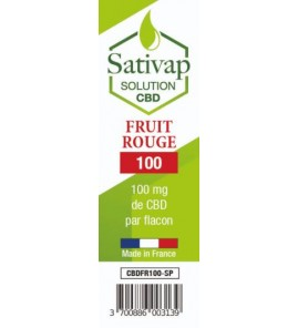 Sativap CBD fruit rouge -...